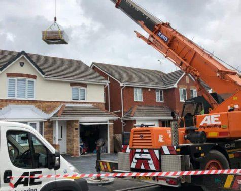 Residential Crane Hire in Lancashire